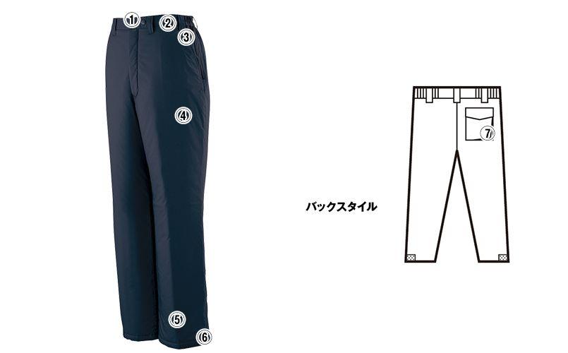 自重堂 48441 超耐久撥水 裏アルミ防寒パンツ 商品詳細・こだわりPOINT