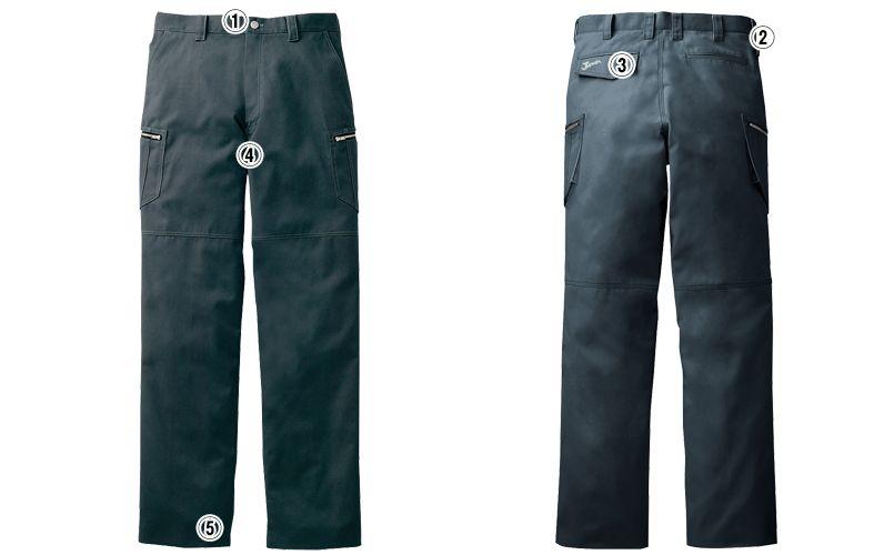 自重堂Jawin 51802 ノータックカーゴパンツ(新庄モデル)[裾上げNG] 商品詳細・こだわりPOINT