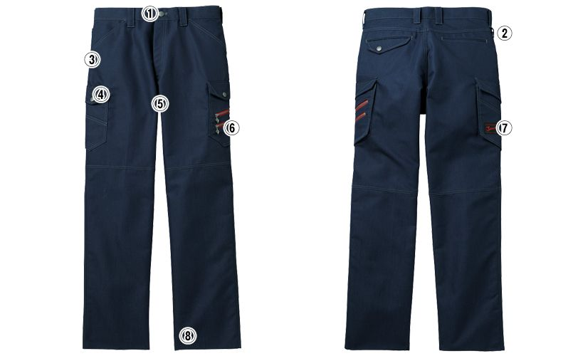自重堂Jawin 52302 ノータックカーゴパンツ(新庄モデル) 裾上げNG 商品詳細・こだわりPOINT