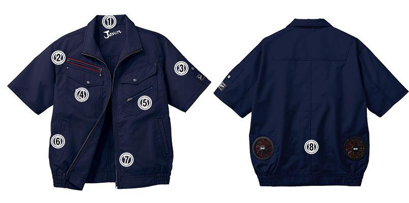 自重堂JAWIN 54040SET [春夏用]空調服セット 制電 半袖ブルゾンセット 商品詳細・こだわりPOINT