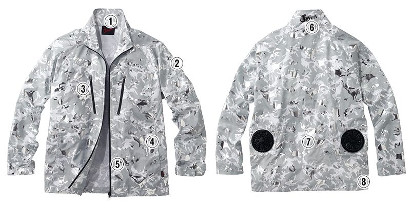 自重堂JAWIN 54050SET [春夏用]空調服セット 迷彩 長袖ブルゾン ポリ100% 商品詳細・こだわりPOINT
