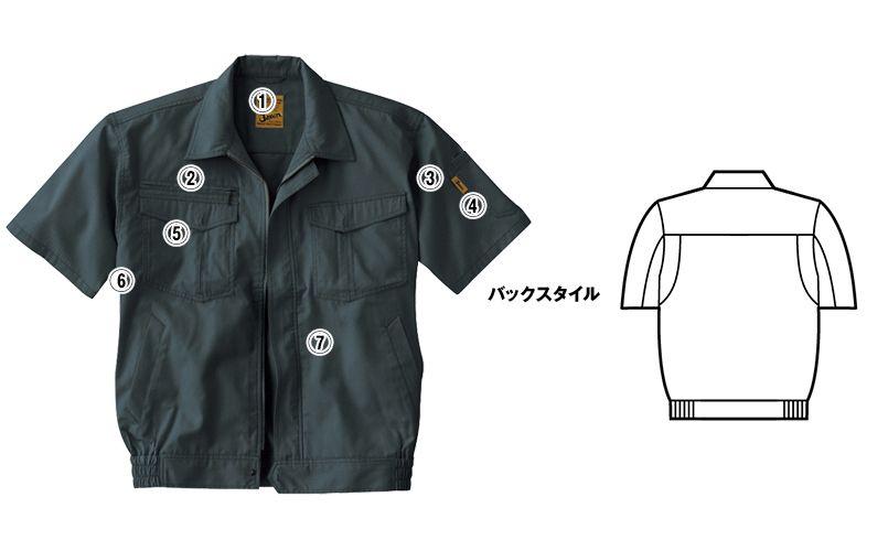 自重堂Jawin 55210 [春夏用]半袖ブルゾン 商品詳細・こだわりPOINT
