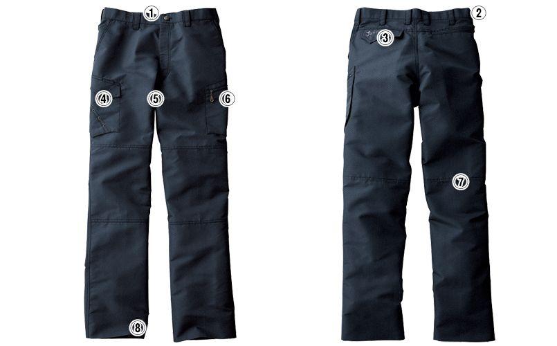 自重堂 55602 [春夏用]JAWIN ノータックカーゴパンツ 商品詳細・こだわりPOINT
