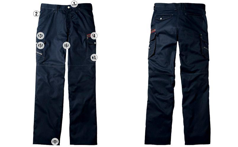 自重堂Jawin 56002 [春夏用]ノータックカーゴパンツ(新庄モデル) 裾上げNG 商品詳細・こだわりPOINT