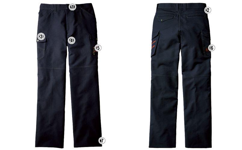 自重堂Jawin 56302 [春夏用]ノータックカーゴパンツ(新庄モデル) 裾上げNG 商品詳細・こだわりPOINT