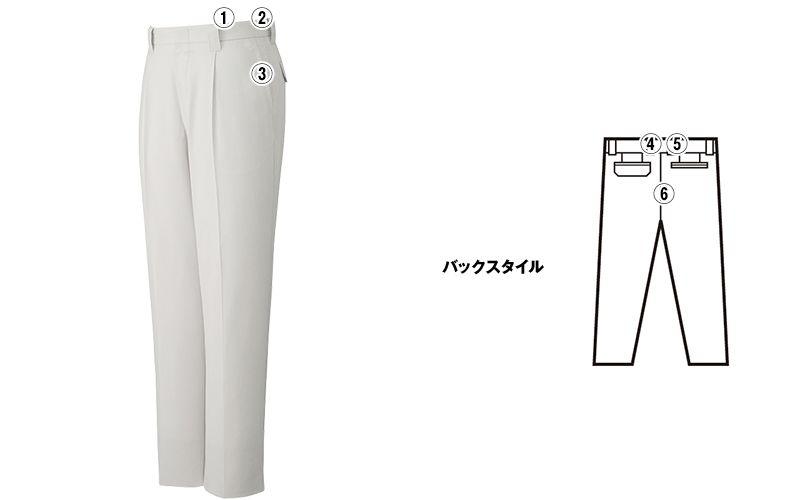 自重堂 85901 [春夏用]まるごとストレッチ ワンタックパンツ 商品詳細・こだわりPOINT