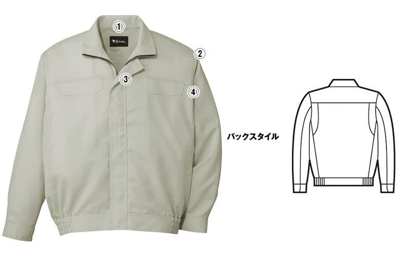 自重堂 86500 [春夏用]ポケットレス製品制電長袖ブルゾン 商品詳細・こだわりPOINT