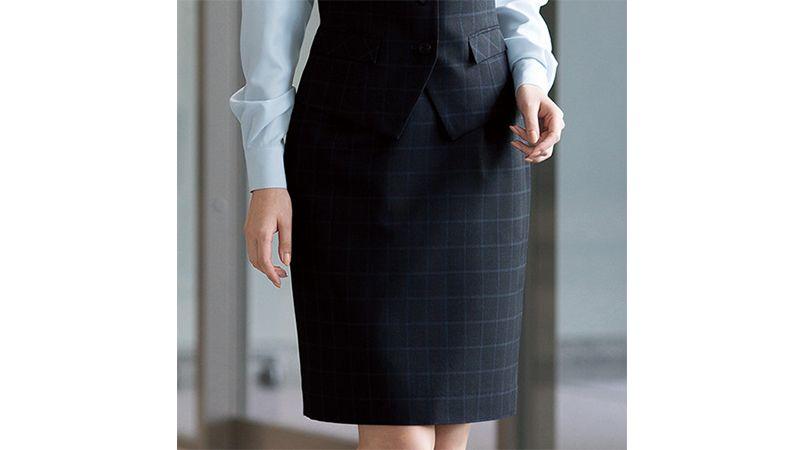 en joie(アンジョア) 51040 [通年]モノトーン調がシックでスタイリッシュなスカート 無地 商品詳細・こだわりPOINT