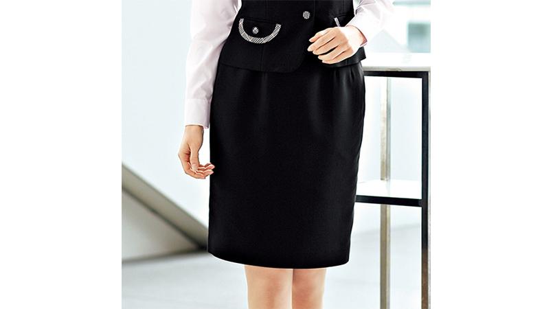 en joie(アンジョア) 51370 [通年]シンプルで使いやすいストレッチのスカート 無地 商品詳細・こだわりPOINT