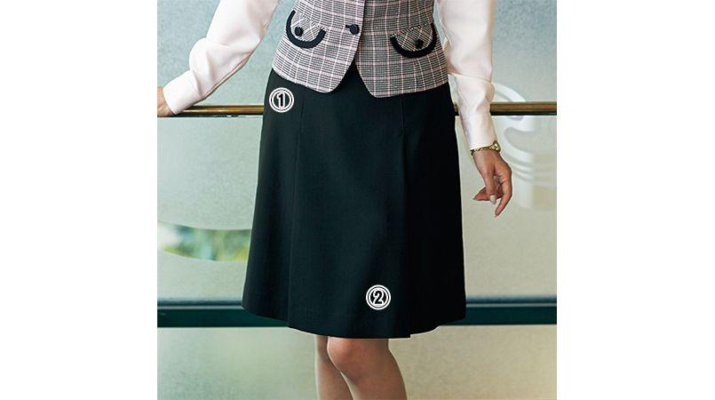 en joie(アンジョア) 51372 [通年]伸縮性があり心地よいフィット感のプリーツスカート 無地 商品詳細・こだわりPOINT