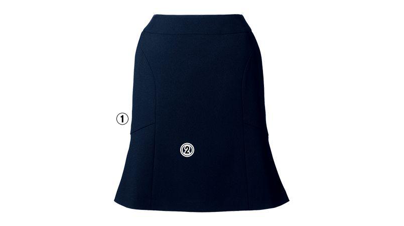 en joie(アンジョア) 51413 [通年]2WAYストレッチで、動きやすさバツグンのマーメイドスカート 無地 商品詳細・こだわりPOINT