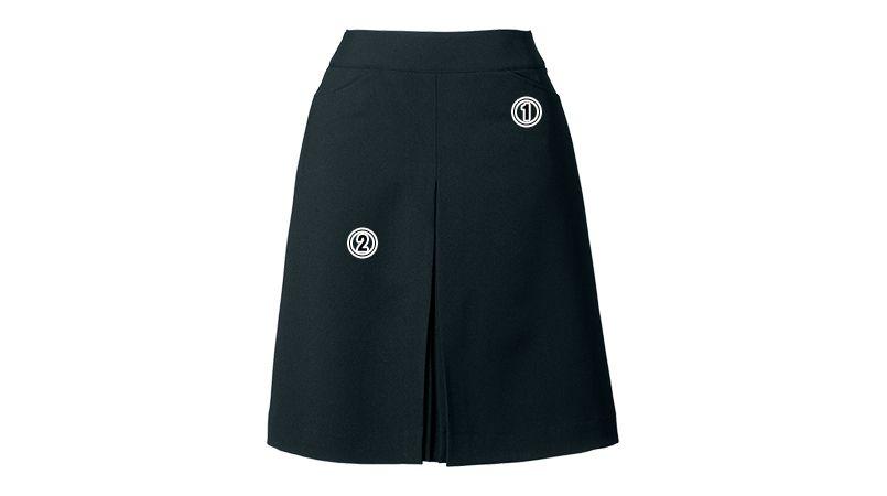 en joie(アンジョア) 51414 [通年]スタイルよく見せる美しいシルエットのボックススカート 無地 商品詳細・こだわりPOINT