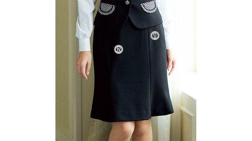 en joie(アンジョア) 51452 [通年]上質素材で美しいラインをキープするマーメイドスカート 無地 商品詳細・こだわりPOINT