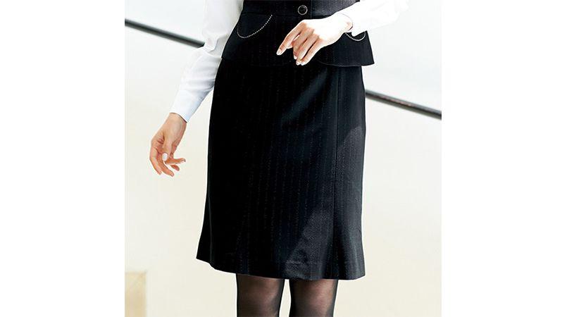 en joie(アンジョア) 51702 [通年]上質な素材感でシルバーラメストライプのマーメイドスカート 商品詳細・こだわりPOINT