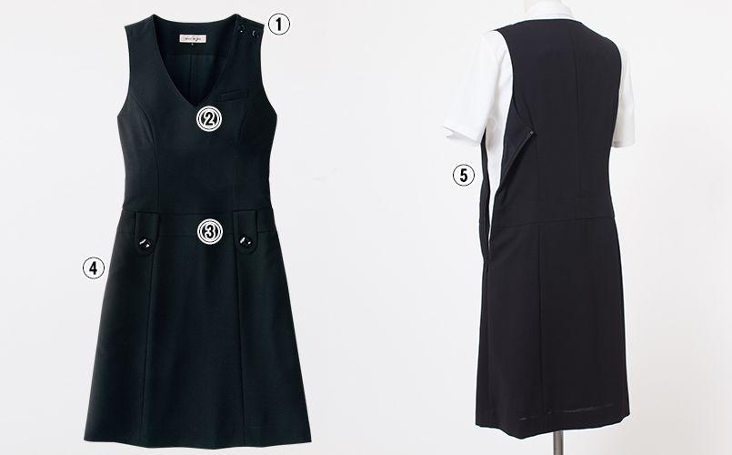 en joie(アンジョア) 66300 [春夏用]涼しい着心地のジャンパースカート 無地 商品詳細・こだわりPOINT
