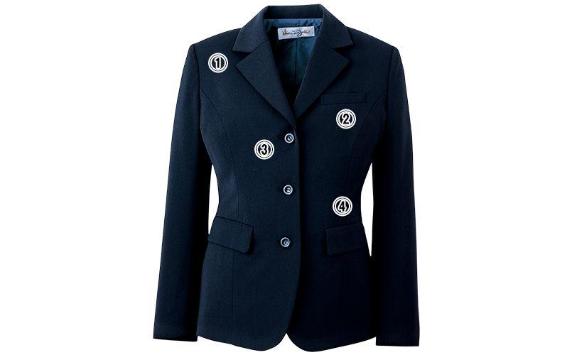 en joie(アンジョア) 81070 [通年]エコ素材で着心地バツグンのジャケット 無地 商品詳細・こだわりPOINT