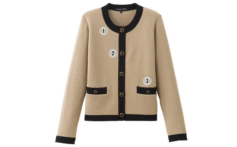 en joie(アンジョア) 81670 [秋冬用]優しい見た目できちんと感のあるニットジャケット 無地 商品詳細・こだわりPOINT