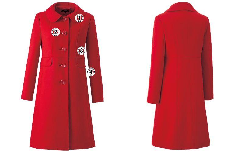 en joie(アンジョア) 9000 上質な紡毛糸で暖かく肌さわりのよいロング丈コート 無地 商品詳細・こだわりPOINT
