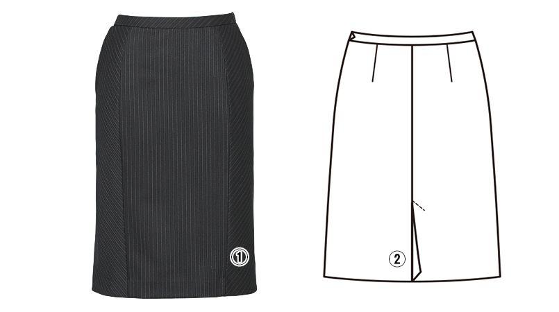 EAS476 enjoy セミタイトスカート 無地 商品詳細・こだわりPOINT