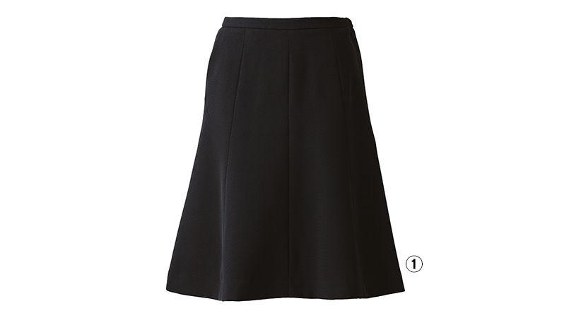 EAS514 enjoy フレアースカート 無地 商品詳細・こだわりPOINT