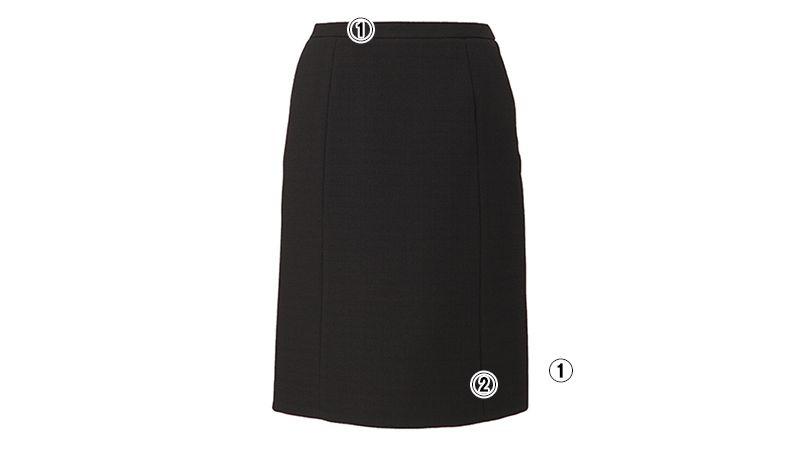 EAS573 enjoy セミタイトスカート 無地 商品詳細・こだわりPOINT