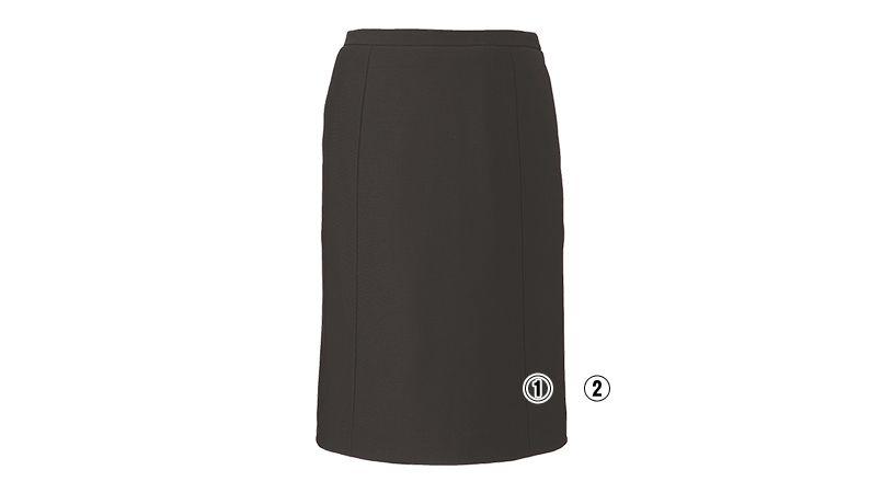 EAS588 enjoy [通年]セミタイトスカート ニット 無地 商品詳細・こだわりPOINT