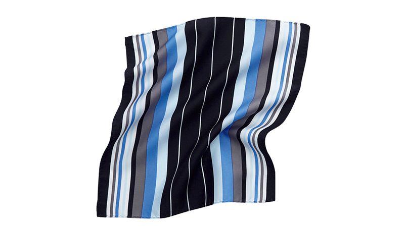 EAZ466 enjoy 都会な印象のマルチストライプのミニスカーフ 商品詳細・こだわりPOINT