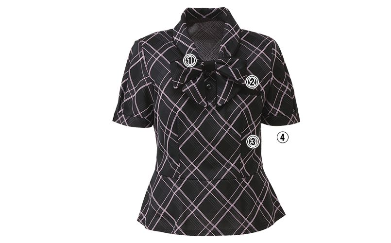 ESP451 enjoy [春夏用]躍動感あふれる都会派エレガントなオフィスポロシャツ 商品詳細・こだわりPOINT