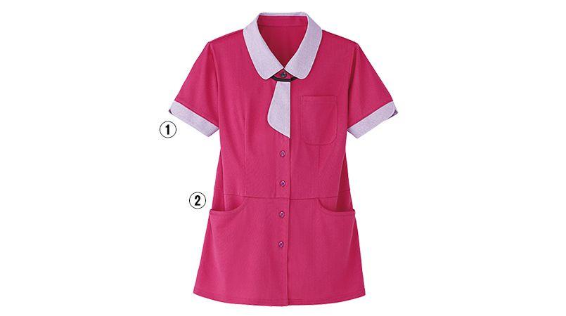 HL2639 ハートグリーン 半袖ロングニットシャツ(女性用) 商品詳細・こだわりPOINT