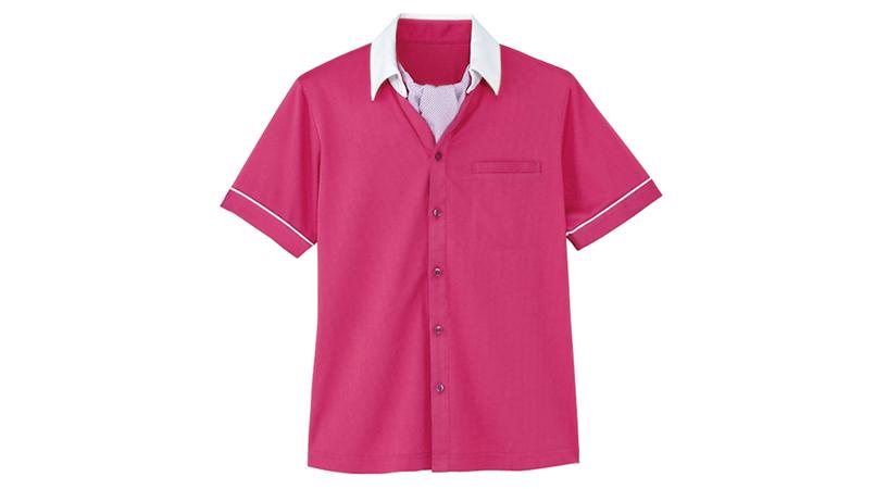 HM2619 ハートグリーン 半袖ニットシャツ 商品詳細・こだわりPOINT