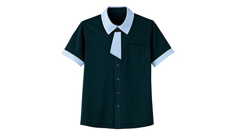 HM2629 ハートグリーン 半袖ニットシャツ 商品詳細・こだわりPOINT