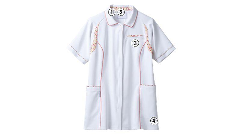 CHM052-0102 アシックス(asics) ナースジャケット(女性用) 商品詳細・こだわりPOINT