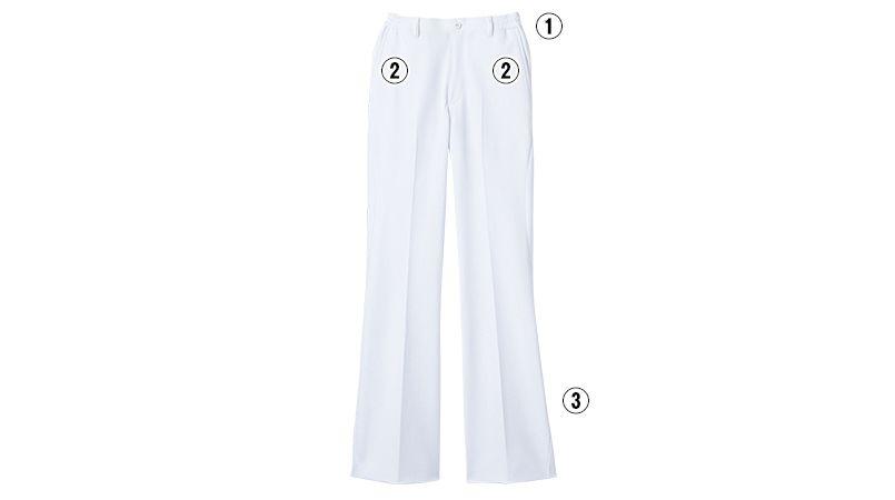 LKM101-0100 アシックス(asics) ブーツカットパンツ(女性用) 商品詳細・こだわりPOINT