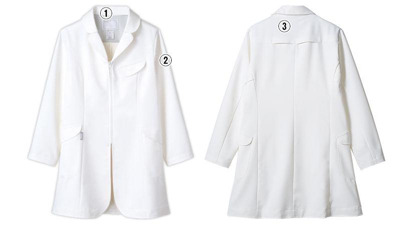LKM201-0100 アシックス(asics) ドクターコート(女性用) 商品詳細・こだわりPOINT