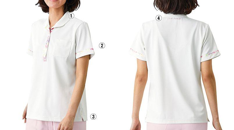LW201 ローラ アシュレイ 半袖ニットシャツ ポロシャツ(女性用)NLK 商品詳細・こだわりPOINT