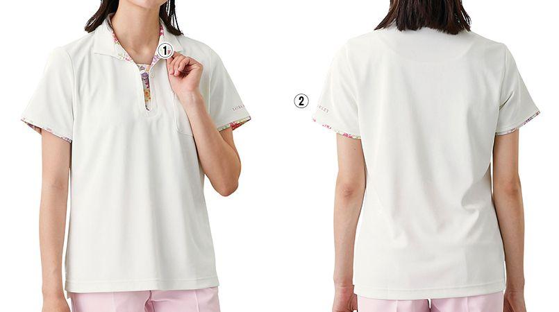 LW203 ローラ アシュレイ 半袖ニットシャツ ポロシャツ(女性用)NLK 商品詳細・こだわりPOINT
