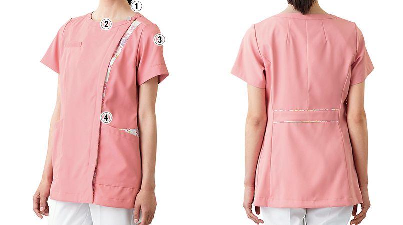 LW601 ローラ アシュレイ 半袖ナースジャケット(女性用) 商品詳細・こだわりPOINT