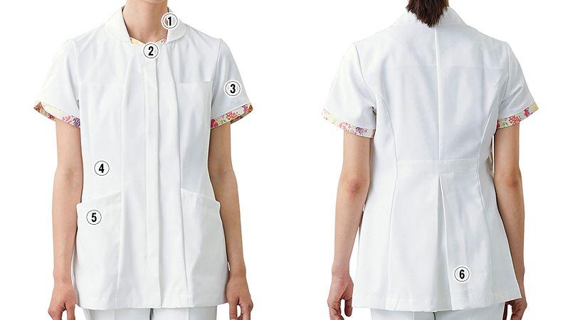 LW801 ローラ アシュレイ 半袖ナースジャケット(女性用) 商品詳細・こだわりPOINT