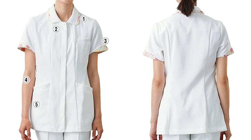 LW803 ローラ アシュレイ 半袖ナースジャケット(女性用) 商品詳細・こだわりPOINT