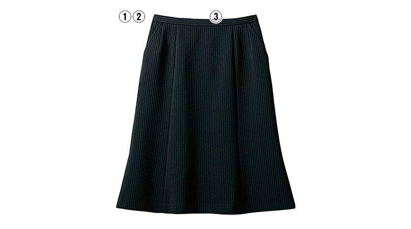 SELERY(セロリー) S-16020 [秋冬用]部屋干ししてもニオわない!お手入れラクラクのマーメイドスカート[ストライプ] 商品詳細・こだわりPOINT
