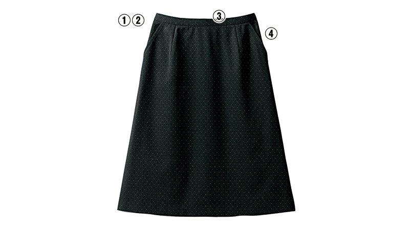 SELERY(セロリー) S-16050 [秋冬用]部屋干ししてもニオわない!お手入れラクラクのAラインスカート ドット 商品詳細・こだわりPOINT
