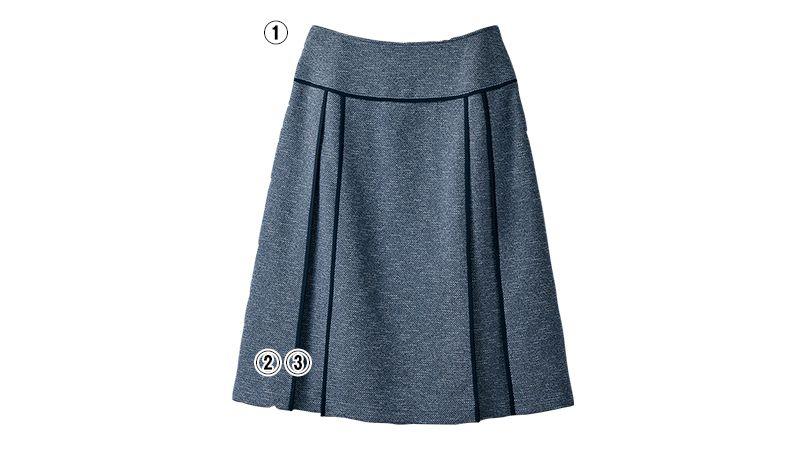SELERY(セロリー) S-16371 16379 [秋冬用]温湿調整するモードなツイード風のニットAラインスカート 商品詳細・こだわりPOINT