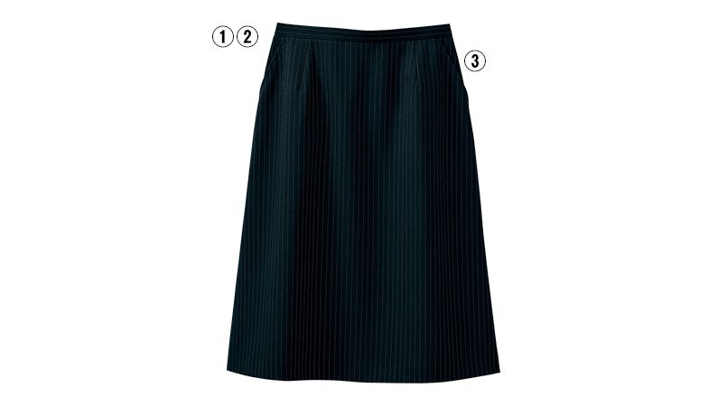 SELERY(セロリー) S-16401 [通年]Aラインスカート [ストライプ] 商品詳細・こだわりPOINT