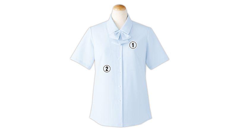 SELERY(セロリー) S-36692 36693 36696 36698 [通年]敏感肌の方も安心!清潔加工の半袖ブラウス(リボン付) 商品詳細・こだわりPOINT