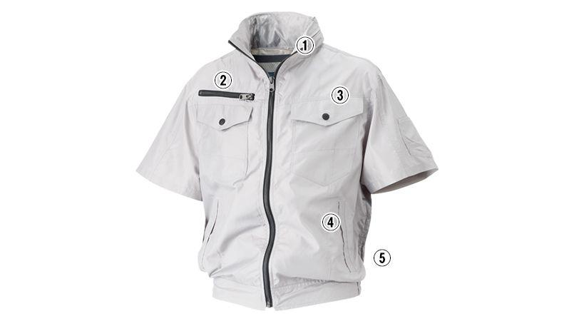 05811 シンメン S-AIR フードインハーフジャケット(男性用) 商品詳細・こだわりPOINT