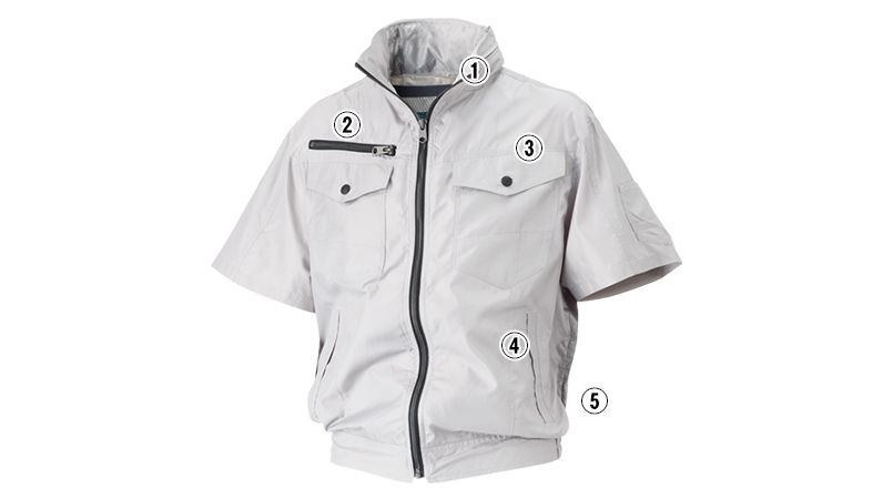 05811SET シンメン S-AIR フードインハーフジャケット(男性用) 商品詳細・こだわりPOINT