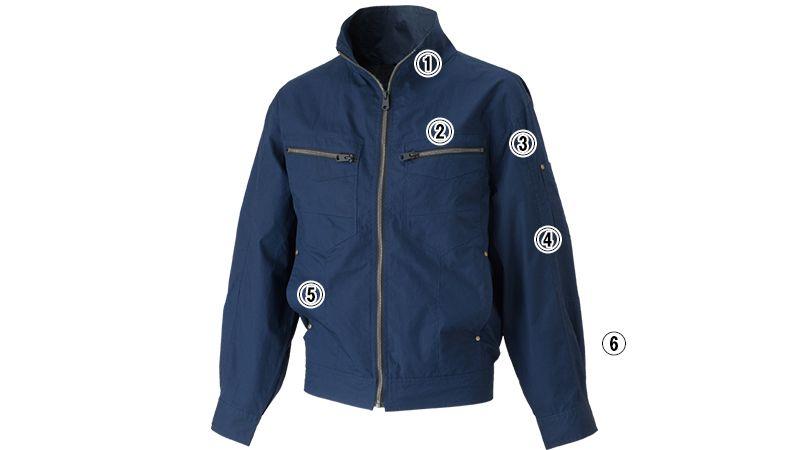 05830 シンメン S-AIR コットンワークジャケット(男性用) 商品詳細・こだわりPOINT