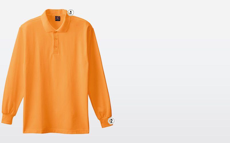 0080 桑和 TC長袖ポロシャツ(ポケなし) 商品詳細・こだわりPOINT