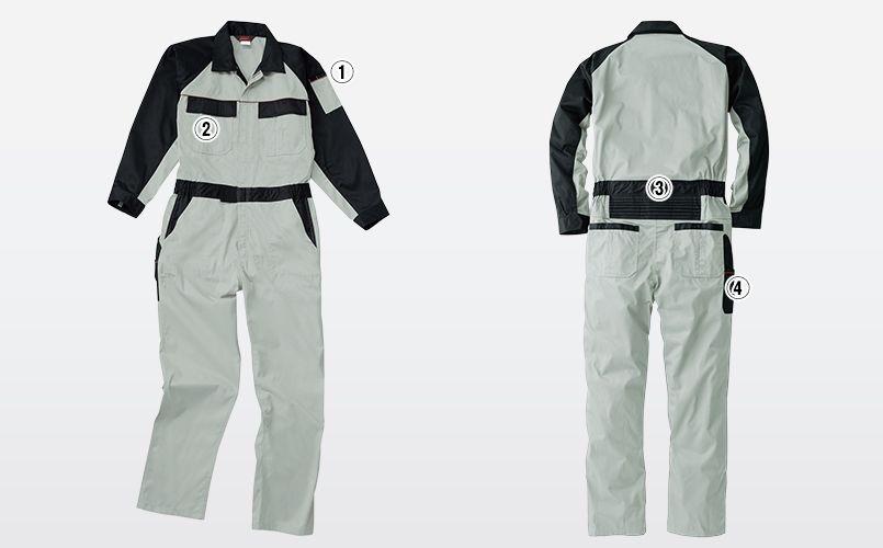 9500 桑和 つなぎ 続服 商品詳細・こだわりPOINT