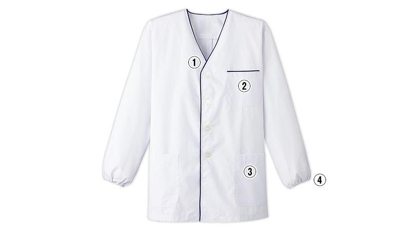 FA-375 Servo(サーヴォ) デザイン白衣/長袖(男性用) 商品詳細・こだわりPOINT